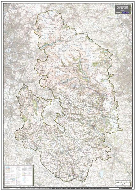 Peak District National Park - Wall Map